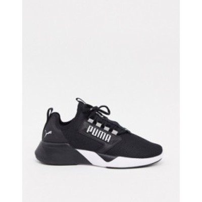 プーマ レディース スニーカー シューズ Puma Running retaliate sneakers in black Black