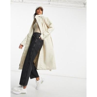 ナイキ レディース コート アウター Nike synthetic-fill parka jacket in cream