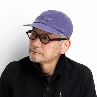 キャップ ウォッシュドコットン 帽子 メンズ STETSON ラフ 定番 オールシーズン S〜5Lサイズ 日本製 ステットソン 6方キャップ 紺 ネイビー