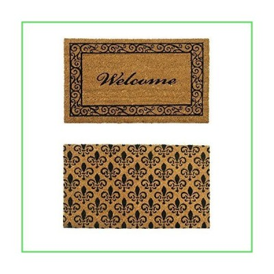 【全国送料無料】Rubber-Cal Coir Double Wide Door Mats (Set of 2), 24 x 57 (10-108-016)【並行輸入品】