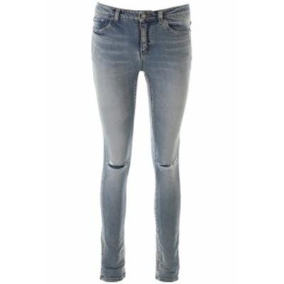 SAINT LAURENT PARIS/イヴ サンローラン デニムパンツ BRIGHT BLUE Saint laurent used denim jeans レディース 春夏2020 606670 YO507 i