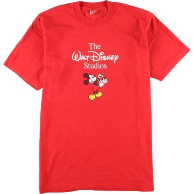 90年代 FRUIT OF THE LOOM MICKEY MOUSE ミッキーマウス キャラクタープリントTシャツ USA製 レディースXXL ヴィンテージ /eaa146345