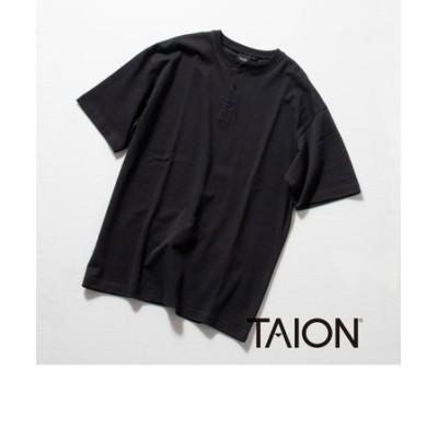 【TAION/タイオン】別注 ヘンリーネック Tシャツ  (※温度調整機能素材、クールビズ対応)