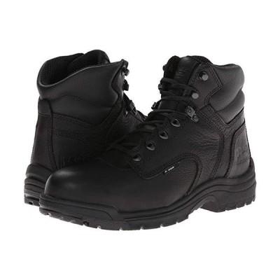"""ティンバーランド TITAN 6"""""""" Alloy Safety Toe メンズ ブーツ Blackout Full-Grain Leather"""