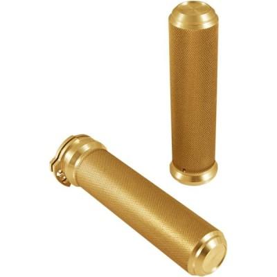 【06301753】 SPEED グリップ:ゴールド/1984年以降すべてのモデルに適合 ◆ハーレー◆