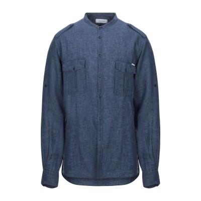 アリーニ AGLINI シャツ ブルー 39 リネン 100% シャツ