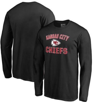 チーフス Tシャツ NFL 長袖 メンズ カットソー ブラック カンザスシティ