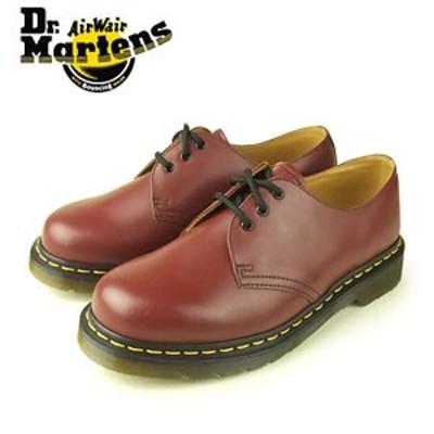ドクターマーチン Dr.Martens 1461 3EYE GIBSON SHOE CHERRY RED ROUGE SMOOTH 10085600 3ホール レディース メンズ