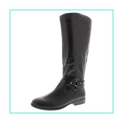 【新品】Style & Co. Womens Kindell Almond Toe Knee High Platform Boots, Black, Size 12.0(並行輸入品)
