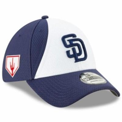 New Era ニュー エラ スポーツ用品  New Era San Diego Padres White/Blue 2019 Spring Training 39THIRTY Flex Hat
