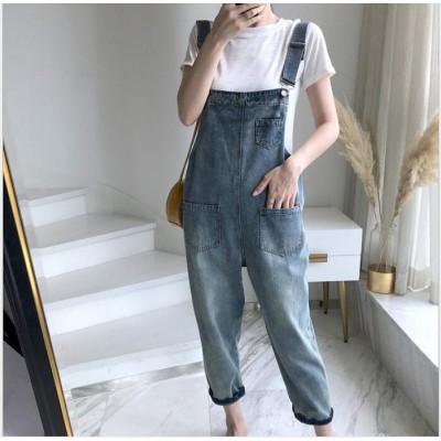 【送料無料】 2019新品入荷韓国ファッション デニム サロペット 0 スカート デニム ロング オールインワン レディース ゆったり