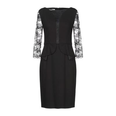 BOTONDI COUTURE ミニワンピース&ドレス ブラック 42 レーヨン 65% / ナイロン 35% / ウール ミニワンピース&ドレス