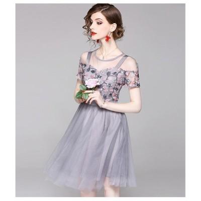結婚式ワンピース大人ドレスお呼ばれ着痩せミディアムワンピース通勤OLAラインフォーマルワンピース大きいサイズ