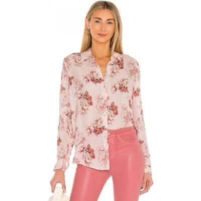 ラジャンス L'AGENCE レディース ブラウス・シャツ トップス Nina Long Sleeve Blouse Blush Rose Flower
