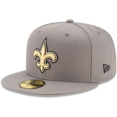 ニューエラ メンズ 帽子 アクセサリー New Orleans Saints New Era Storm 59FIFTY Fitted Hat Graphite