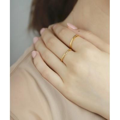 指輪 メタルリーフリング