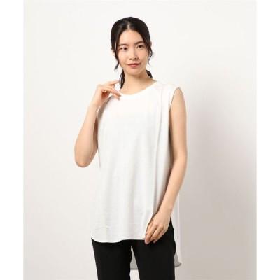 tシャツ Tシャツ 【吸水・速乾・汗シミ防止】ノースリーブロングプルオーバー
