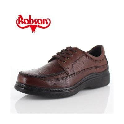 ボブソン BOBSON B5207 ダークブラウン メンズ ウォーキングシューズ ビジネスカジュアル 本革 4E