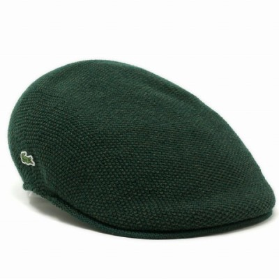 LACOSTE ハンチング ニット 秋冬 シンプル ラコステ サーモニット メンズ 帽子 レディース サイズ調整可 カーキ グリーン