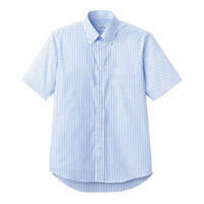 ボンマックスFACE MIX(フェイスミックス) ユニセックス 半袖シャツ ブルー S FB4509U(直送品)