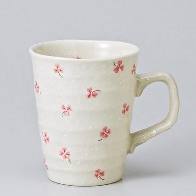 和食器 クローバー マグカップ ピンク カフェ コーヒー 紅茶 珈琲 お茶 オフィス おうち 食器 陶器 おしゃれ うつわ