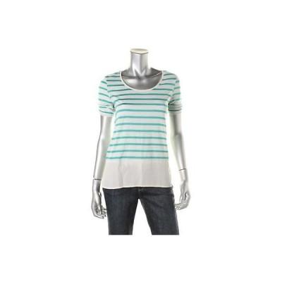 トップス&ブラウス Style & Co. Style Co. 6446 レディース ホワイト Linen Blend H-Low カジュアル Top Shirt Petites PM BHFO
