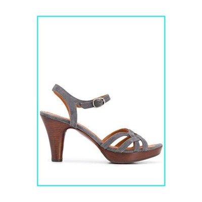 Chie Mihara Sandals with 2.5cm Platform and 9cm Heel LAMISA Grey with 2.5cm Wooden Platform and Heel Size: 11 USA【並行輸入品】