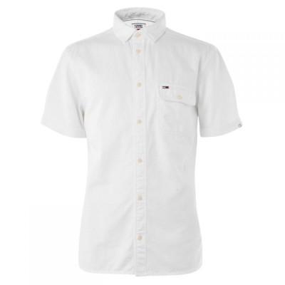 トミー ジーンズ Tommy Jeans メンズ シャツ トップス Jeans Twill Pocket Shirt Classic White