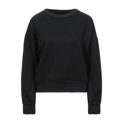 メルシー ..,MERCI スウェットシャツ ブラック L ポリエステル 92% / ポリウレタン 8% スウェットシャツ