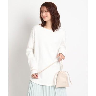tシャツ Tシャツ 【S-LL】オーガニックコットン(綿)ラウンドヘムプルオーバー