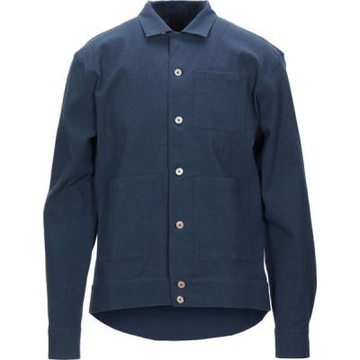 ザ ジジ THE GIGI メンズ シャツ トップス Solid Color Shirt Dark blue