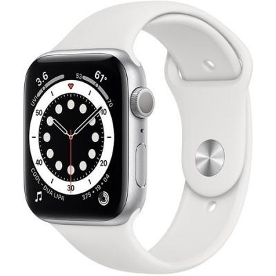 APPLE M00D3J/A ホワイトスポーツバンド Series 6 GPSモデル 44mm Apple Watch