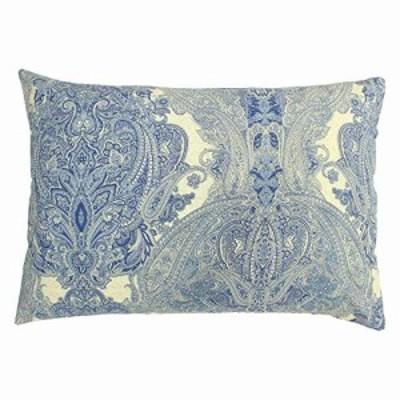 メリーナイト 日本製 綿100% ファスナー式 枕カバー 「ヴィラース」 サックス 約43×63cm 洗える 衛生 清潔 着脱簡単