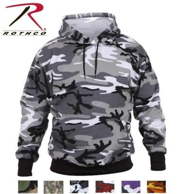 ロスコ カモ プルオーバーフードスウェットシャツ(Rothco Camo Pullover Hooded Sweatshirt)6590/6595(6色)