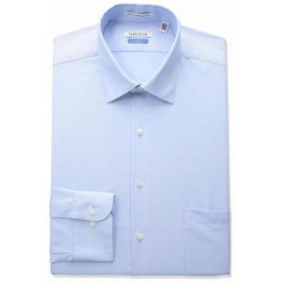 Pocket  ファッション ドレス Van Heusen Mens Dress Shirt Blue Size 18 Herringbone Tall Pocket