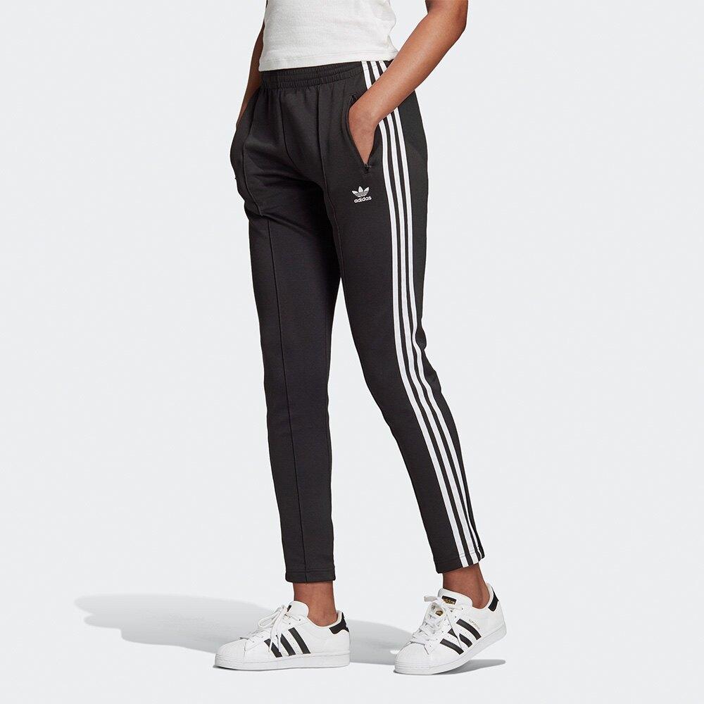 【全館滿額88折】Adidas Originals PRIMEBLUE SST 女裝 長褲 休閒 拉鍊口袋 黑【運動世界】GD2361