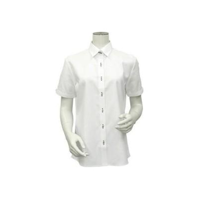 トーキョーシャツ TOKYO SHIRTS 形態安定ノーアイロン レギュラー衿 半袖ビジネスワイシャツ (ホワイト)