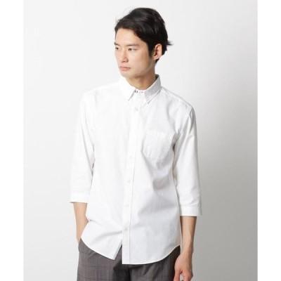 THE SHOP TK / ザ ショップ ティーケー コットン混七分袖ボタンダウンシャツ