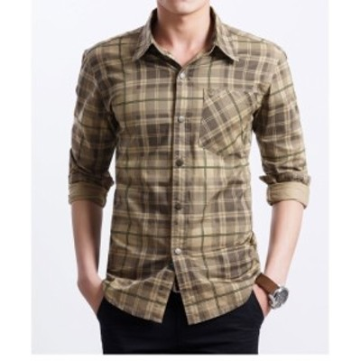 カジュアルシャツ メンズ トップス シャツ 大きいサイズ 長袖 ミリタリーシャツ コットンシャ