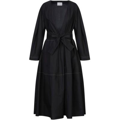 ON THE ISLAND by MARIOS SCHWAB 7分丈ワンピース・ドレス ブラック 44 コットン 100% 7分丈ワンピース・ドレス