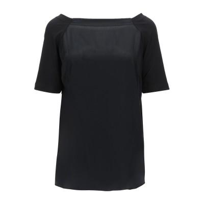ディアナ ガッレージ DIANA GALLESI ブラウス ブラック 42 コットン 95% / ポリウレタン 5% / アセテート / シルク ブ