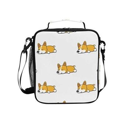 Cute Sleeping Corgi Dog Lunch Box Tote Reusable Insulated School Cooler Bag