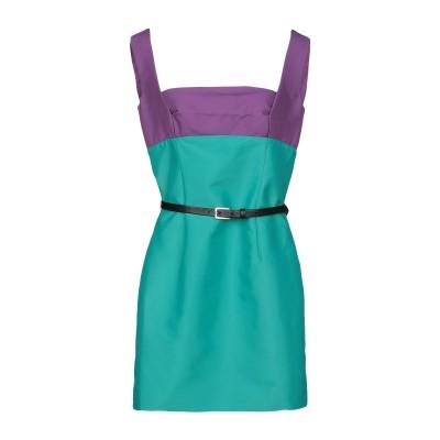 ディースクエアード DSQUARED2 ミニワンピース&ドレス グリーン 40 コットン 58% / ナイロン 42% / 革 ミニワンピース&ドレス