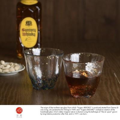 ロックグラス ウイスキー ペア 津軽びいどろ 特別な日の 金彩 ウイスキーグラス 2個セット ガラス 酒器