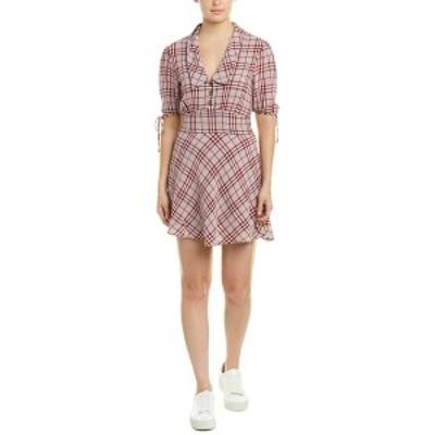 イーストオーダー レディース ワンピース トップス The East Order Pippa Mini Dress sangria and grey check