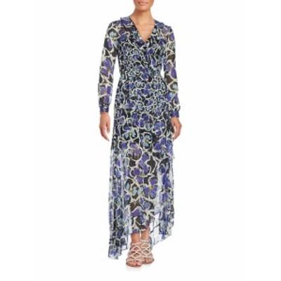 サッチン & バビ レディース ワンピース Elaine Ruffled Floral Print Gown