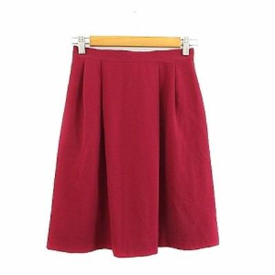 【中古】ミスクロエ miss chloe スカート フレア ひざ丈 タック 40 赤 レッド /AAM34 レディース