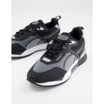 プーマ メンズ スニーカー シューズ PUMA Mirage Tech sneakers in gray and blue Gray/blue