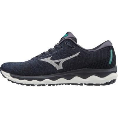ミズノ Mizuno メンズ ランニング・ウォーキング シューズ・靴 Wave Sky Waveknit 3 Running Shoe tru blu nimbus cloud