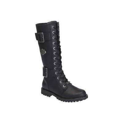 ハーレーダビッドソン?ブーツ シューズ 靴Harley-Davidson レディース Belhaven Knee-Hi ブラック or ブラウン レザー ブーツ. D87082
